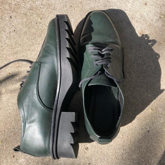 Zara Chunky heel lace up shoes